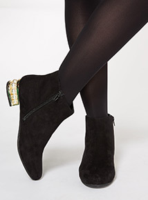 Pearl Heel Ankle Boot