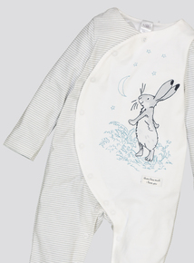 Guess How Much I Love You Grey Sleepsuit (0-24 Months)