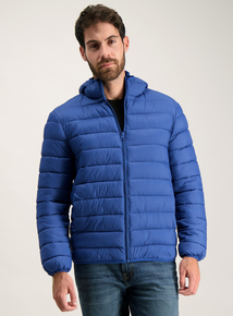 Cobalt Blue Thermolite Hooded Puffer