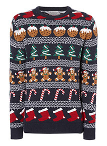 Navy Christmas Jumper