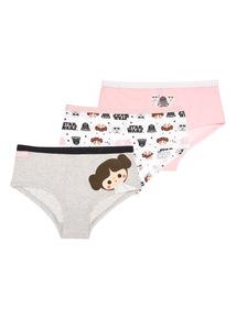 Girls Disney Star Wars Boyshorts 3 Pack (5 - 12 years)