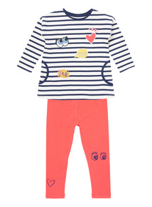 Striped Jersey & Leggings (9 months-5 years)