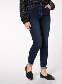 Dark Denim Skinny Dyed Jeans