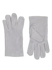 Grey Fleece Gloves