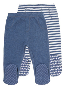 Blue Footed Leggings 2 Pack (0-12 months)