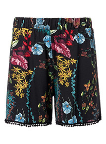 Multicoloured Floral Printed Shorts