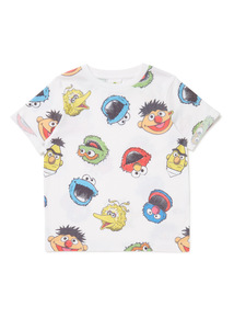 White Sesame Street T-Shirt (3-14 years)