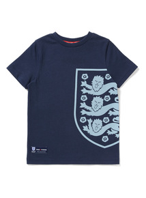 Navy Official England Shield Print T-Shirt (9 months -14 years)