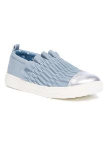 Blue Ruche Skater Shoes