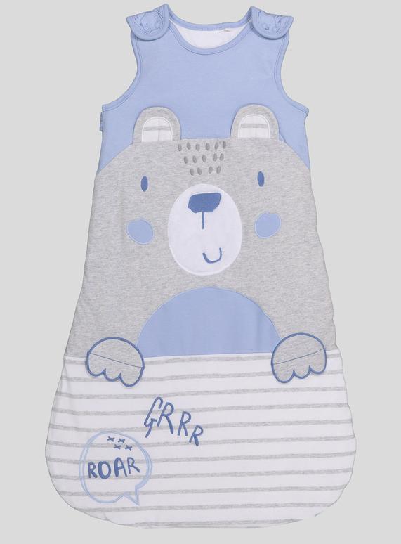 buy popular d6b14 aa099 SKU: PH1 BOYS BEAR SLEEPING BAG:Grey