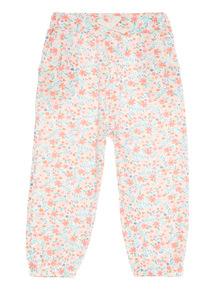 Pink Floral Bottoms (0 - 24 months)