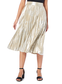 Distressed Foil Skirt