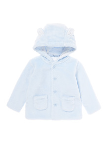 Blue Cloud Faux Fur Jacket (0-12 months)