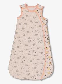 Pink Elephant Print Sleep Bag 2.5 Tog