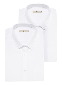 White Short Sleeved Shirts 2 Pack