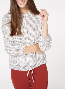 Dotted Bubble Hem Top