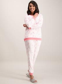 Pink Star Print Pyjama Set
