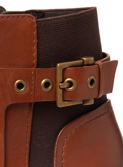 Tan Leather Equestrian Boots
