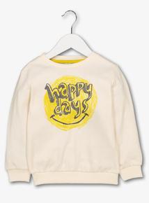 Cream 'Happy Days' Crew Neck Top (1 - 6 years)