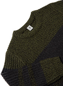 Khaki and Navy Striped Jumper (3-14 Years)