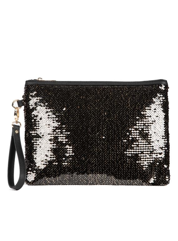 5553093a53 Womens Black Sequin Clutch Bag | Tu clothing