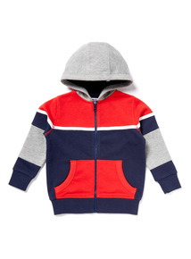 Multicoloured Sporty Zip Through Sweat (9 months-6 years)