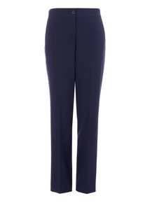 Navy Slim Leg Trousers