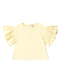 Yellow Frill Sleeve Top (3-14 years)