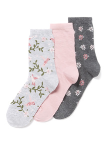 3 Pack Hummingbird Socks