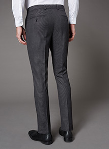 Grey Dogtooth Stretch Skinny Trouser