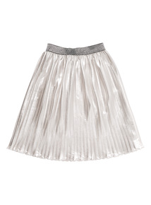 Silver Pleated Skirt (3 - 12 years)