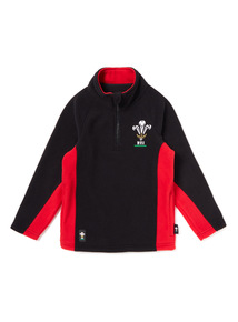 Red And Black Welsh Rugby Union Fleece (1-14 years)