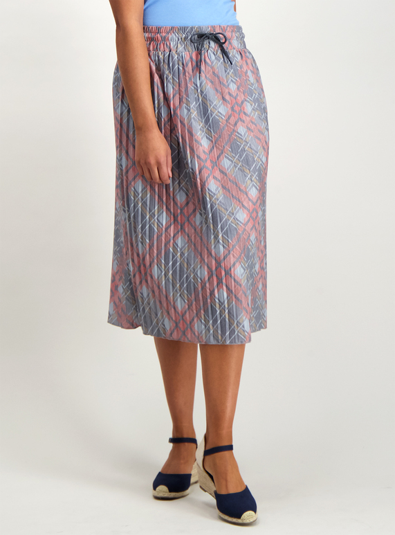 672f5b51da Womens Grey Check Pleated Skirt | Tu clothing