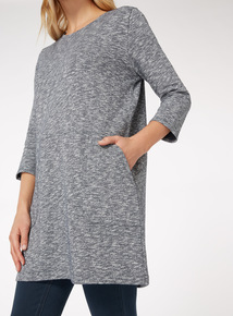 Longline Slub Sweat Tunic