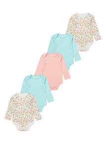 5 Pack Pattern Bodysuits (0-3 years)