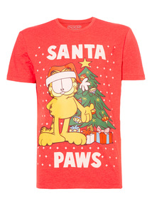 Red Garfield Christmas Tee