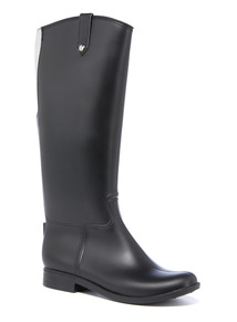Black Elasticated Rider Welly