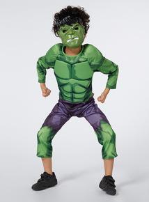 Kids Green Hulk Costume With Sound (3-10 Years)