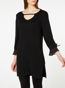 Black Split Sleeve Dress