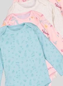 Multicoloured Long-Sleeved Bodysuits 5 Pack (Newborn - 36 Months)