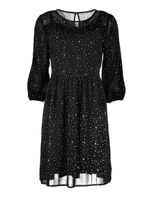 Online Exclusive Monochrome Chiffon Star Dress