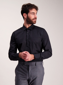 Black Tailored Fit Shirts 2 Pack