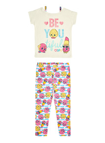 Multicoloured Shopkins PJ Set (4 - 13 years)