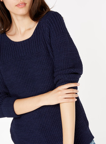 Turn Up Sleeve Knitted Jumper