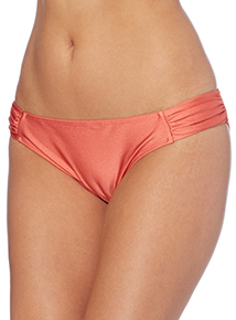 Shiny Ruched Swim Brief