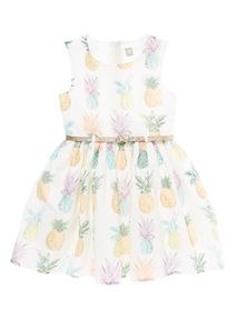 Cream Pineapple Dress (3 - 12 years)