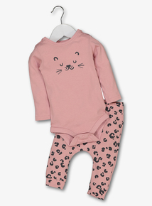 Pink Leopard Body & Legging Set (0-24 Months)