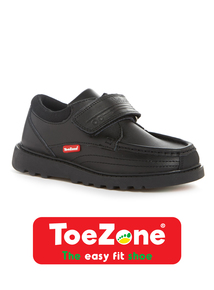 Black Leather ToeZone Wallaby Shoe