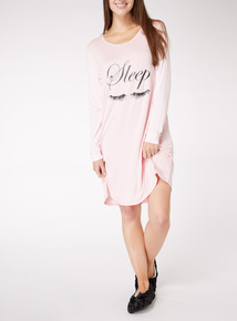 Eyelash Long Sleeve Nightdress