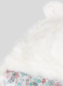 Cream Faux Fur Bear Hat (Newborn - 2 Years)